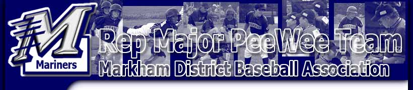 [Rep Major PeeWee Team - Markham District Baseball Association]